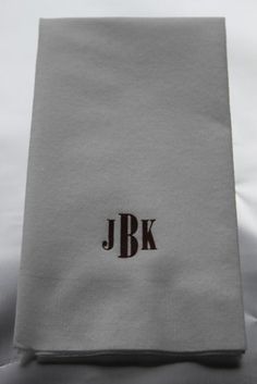 $20 set of 50 linen-like towels. Perfect Christmas or hostess gift.  www.southernpropermonograms.com