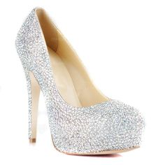 Patent Leather Stiletto Heel Pumps Platform Closed Toe With Rhinestone shoes (085026495)