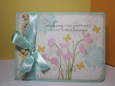 Beautiful card with a great stamped background.