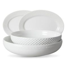 White Beaded Serveware Collection