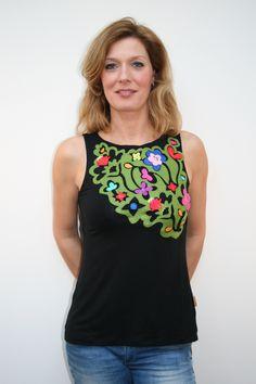 Mamatayoe shirt www. Tank Tops, Skirts, Women, Fashion, Vestidos, Appliques, Blouses, Flowers, Clothes