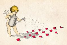 Cherub sowing the seeds of love -