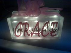 get these from hobby lobby, spray with frosted glass, letters cut w cricut