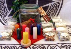 Altar Set Herbs Bees Wax Candles and Resins by PaganMagicalCrafts, £31.50