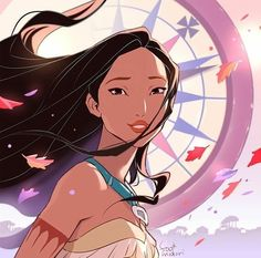 """You are always my compass Disney Pocahontas fanart"" Pocahontas Disney, Disney Amor, Princess Pocahontas, Disney Princess Art, Disney Girls, Princess Celestia, Disney Princesses, Pocahontas Drawing, Princess Tattoo"