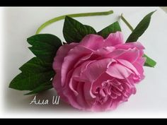 МК Пион из фоамирана на ободке для начинающих, простая сборка цветка с плоским основанием. - YouTube