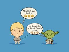 Yoda training - Star Wars Emoji Chat