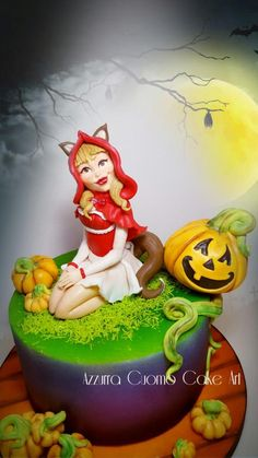 "The ""Sweetest ""of Wolfgirl♡  - Cake by Azzurra Cuomo Cake Art"