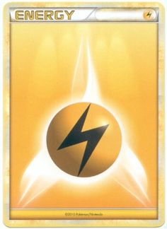 Lightning Energy Pokemon Card (Heart-Gold & Soul-Silver Series) Yellow/Electric Type