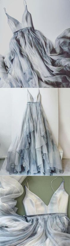 sew grey chiffon prom dress