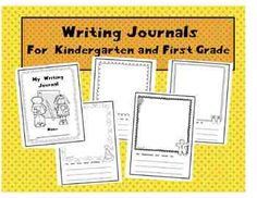 "FREE sample of 5 journal pages from the larger set ""Kindergarten and First Grade Writing Journals."""