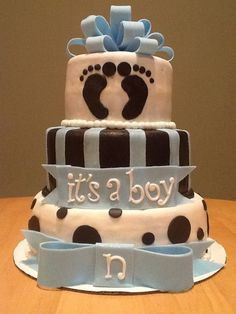 It's+a+Boy+Baby+Shower+Cake