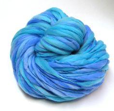 Super bulky handspun yarn in hand dyed merino wool - 117 yards, 6.4 ounces/ 181 grams