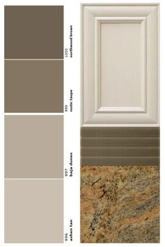 T his is one of the questions I get all the time. How do I choose warm paint colors if my kitchen finishes are cool? Or vice versa. Warm Kitchen Colors, Kitchen Paint Colors, Painting Kitchen Cabinets, Warm Paint Colors, Paint Colors For Home, House Colors, Condo Design, House Design, Kitchen Redo