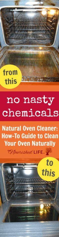 Natural Oven Cleaner: How-To Guide to Clean Your Oven Naturally - at livingthenourishedlife.com