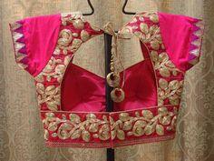 Moda espumoso: saris con maggam diseñador y blusas de trabajo Zardosi