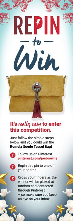 Pin to Win for your chance to win our amazing Romola Suede Tassel Bag! Boho Outfits, Cross Your Fingers, Happy New Year Wishes, Brown Outfit, Crafts For Seniors, Crafts To Make And Sell, Brown Fashion, Craft Stick Crafts, Clothes Horse
