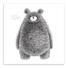 Type: Canvas Printings Subjects: Animal Frame mode: Unframed Material: Canvas Style: Modern Frame: No Medium: Watercolor Support Base: Canvas Form: Single Technics: Spray Painting Model Number: Shape: Rectangle Original: Yes Brand Name: Mild Art Bear Character, Character Design, Art D'ours, Teddy Bear Drawing, Teddy Bear Design, Bear Vector, Bear Illustration, Bear Cartoon, Cute Teddy Bears