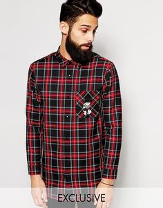 Reclaimed Vintage X The Beano Longline Checked Shirt