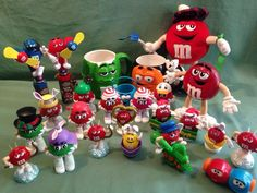 M M Candy Tube Dispenser Topper Top Character Figure Train Cup Mug Plush Mix Lot | eBay