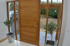 contemporary porch design - glazed panels