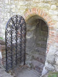 Gate & staircase Upnor castle Kent England