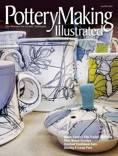 The January/February 2019 issue of has arrived and should be arriving to your homes shortly. On the cover, we have Dawn Candy's slip trailed surfaces. Slab Ceramics, Modern Ceramics, Hand Painted Ceramics, Hand Built Pottery, Slab Pottery, Ceramic Pottery, Pottery Vase, Ceramic Techniques, Pottery Techniques