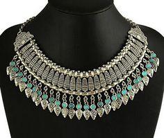 Beauty Alloy Rhinestone Vintage Choker Statement Stone Embellishment Necklace