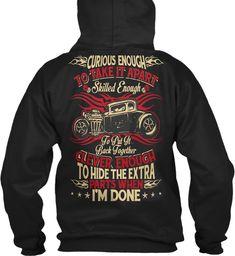 Curious Enough Trucker T Shirt 2018 Black Sweatshirt Back
