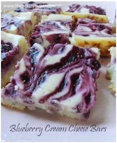 Blueberry Cream Cheese Bars.