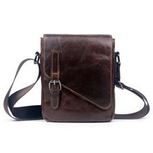 8000a5a3a8e7 Men Genuine Leather Oil Wax leather First layer Cowhide Cross Body  Messenger Shoulder Pack Travel Climb Luxury Trend Vintage Bag