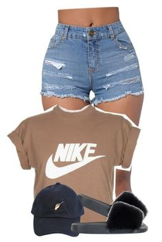 """7/23"" by trillgolddfashionn ❤ liked on Polyvore featuring NIKE, Givenchy and See You Never"