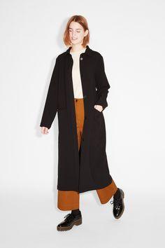 Monki Image 3 of Duster coat in Black