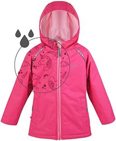 Girls' Western Chief Cutie Leopard Hooded Raincoat Multi Color Choose Size