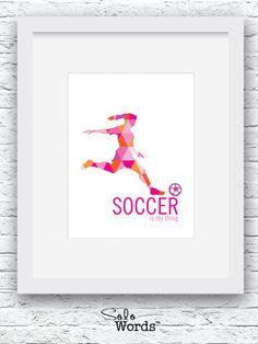 Chica fútbol regalo regalo de fútbol fútbol imprimir por Solowords