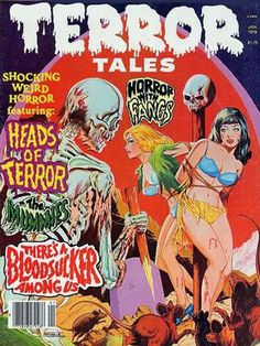 Eerie Publications' Horror Comics Cover Art: Once, Twice, Three Times the Terror Scary Comics, Bd Comics, Horror Comics, Horror Books, Arte Horror, Horror Vintage, Caricature, Comic Book Covers, Comic Books