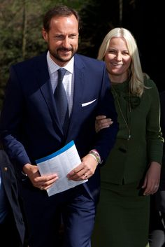 Crown Princess Mette-Marit of Norway and Crown Prince Haakon of Norway and the Mayor of Oslo Fabian Stang attended the 25th anniversary of CICERO (The Center for International Climate and Environmental Research) on April 27, 2015 in Oslo, Norway.