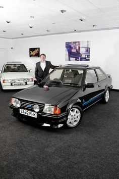 Ford escort 1 RS Turbo in Black (I'd heard these exist but never actually witnessed one until now. Possibly the rarest car I've ever seen).