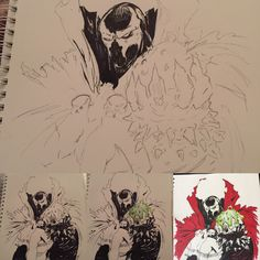 Spawn sketch to ink