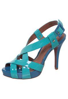 Sandália Carrano Transpasse Verde/Azul
