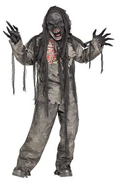 Burning Dead Zombie Costume for Kids (Medium The Burning Dead Zombie Costume for Kids includes shirt, pants, mask, gloves . When Halloween time rolls around, make this item part of your child's complete ensemble. Teen Boy Halloween Costume, Teen Boy Costumes, Halloween Costumes For Teens, Zombie Costumes, Halloween 2018, Trendy Halloween, Pirate Costumes, Spooky Halloween, Zombie Kid