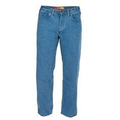 Berne Apparel P905SWWS350 35 x 30 Short 5-Pocket Work Jean - Stone Wash Weathered, Men's, Size: 35W x 30L, Blue