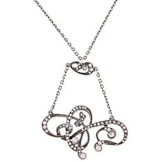 @Overstock - Add a unique accent to your wardrobe with this crystal fashion necklace. Its silvertone pewter gives it a gorgeous antique look, while sparkling crystals are bound to attract attention. A lobster claw clasp keeps it secure around your neck.http://www.overstock.com/Jewelry-Watches/Sweet-Romance-Pewter-Art-Nouveau-Crystal-Lavaliere-Necklace/6971775/product.html?CID=214117 $61.99