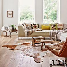 Leuke vloerkleed in de woonkamer | Interieur inrichting | Living ...