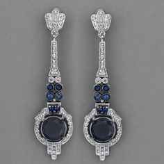 art deco sapphire earrings