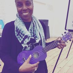 Seriously trying to play the Ukulele and Loving it! Great fun: @energy4life #femalefounders #hatchaccelerator
