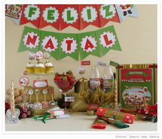 kit de natal Fábrica do Noel - enfeites personalziados e tags para presentes