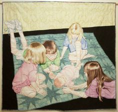 """Cousins"" by Erin Martin, from the special exhibit ""Festival Awareness: Celebrations."" Photo: Quilts Inc."