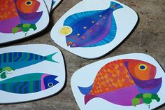 Vintage Worcester Ware fish place mats | H is for Home