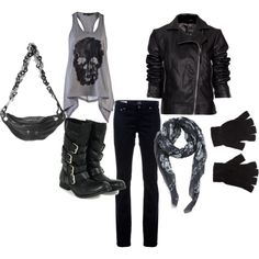Harley outfit, created by torrey-knight.polyvore.com